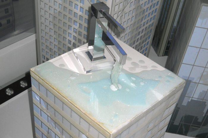 Installazione eseguita con resine e parallelepipedi stampati in 3D